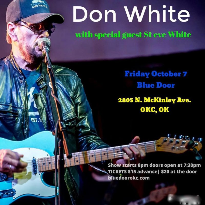 Coming up Oct 7th Don White! His bluesy country stylehellip