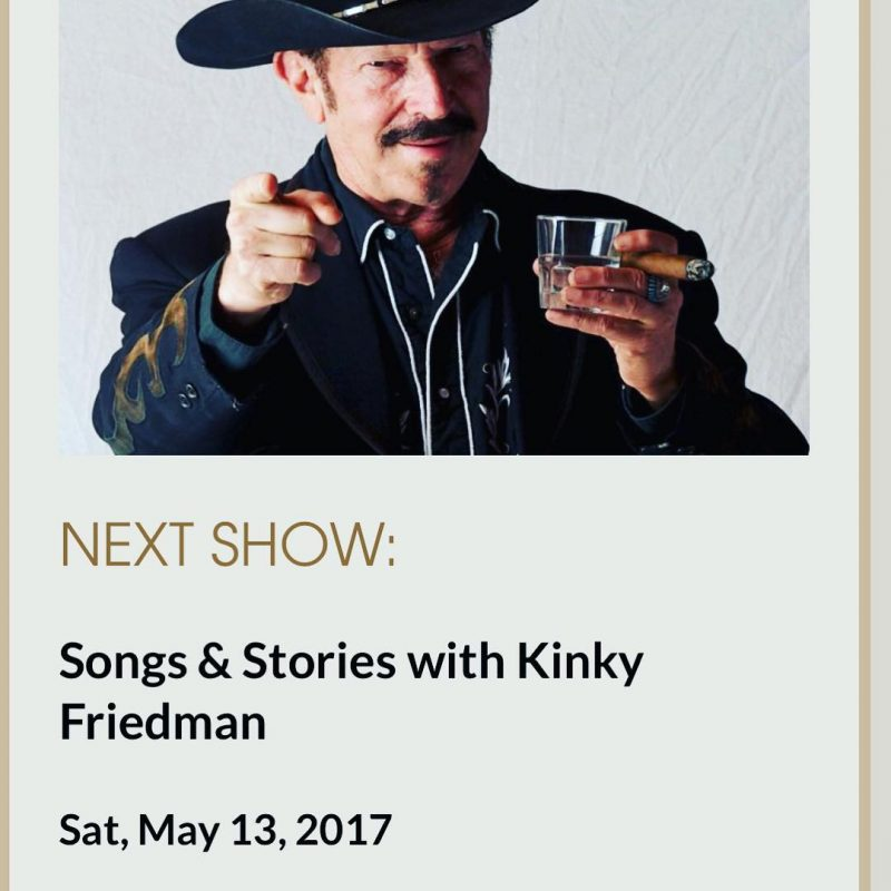 The crazy world of Kinky Friedman comes to the Bluehellip