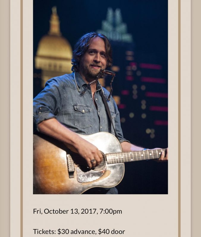 Hayes Carll will do two shows on Oct 13th Detailshellip